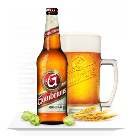 Gambrinus Original 10 (20 x 0,5 l bottled)
