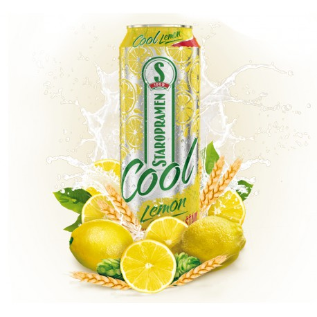 Staropramen Cool Lemon (24 x 0,5 l canned)