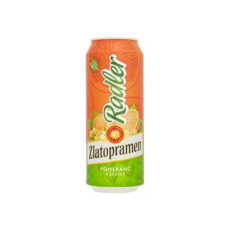 Zlatopramen Radler Orange and Ginger (24 x 0,5 l canned)