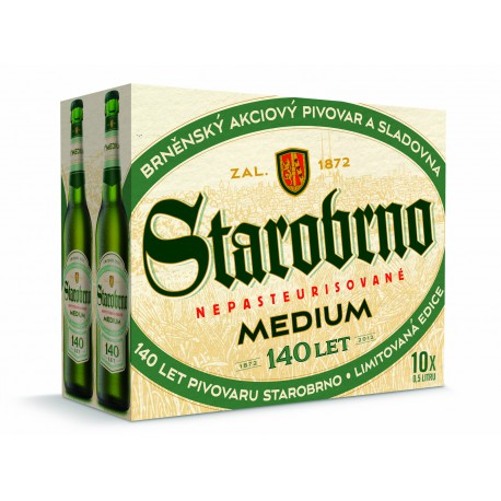 Starobrno Medium (10 x 0,5 l bottled)