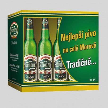 Starobrno Tradiční (10 x 0,5 l bottled)