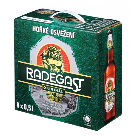 Radegast original (8 x 0,5 l bottled)