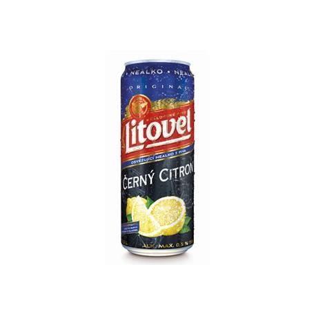 Litovel Černý Citron Free (24 x 0,5 l plechovkové)