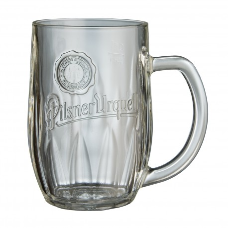 Pilsner Urquell 0.5 l glass with a handle
