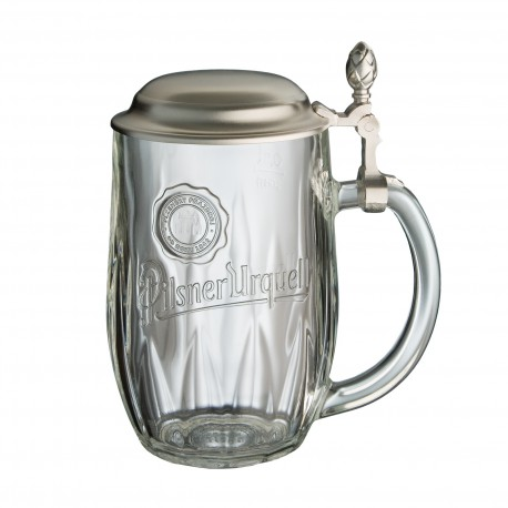 Pilsner Urquell 0.5 l glass with a lid