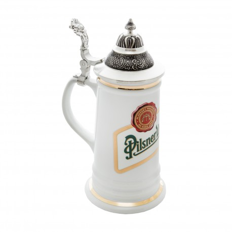 Karla tankard with a pointy lid Pilsner Urquell 0,5 l