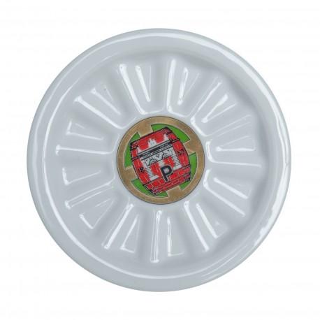 Porcelain Pilsner Urquell beer mat - barrel