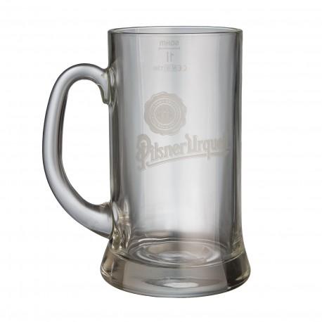Pilsner Urquell 1 l glass with a logo (6 pcs)