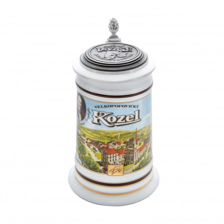 Kozel pitcher with a picture of the brewery 0,5 l - tin lid