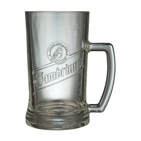 Gambrinus 0.5 l glass with handle