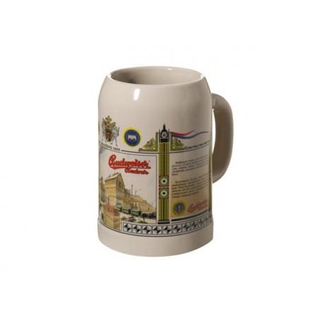 Ceramic Tankard Budweise Budvar 0,5 l