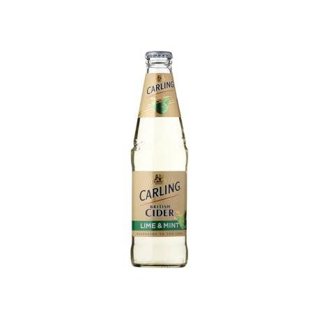 Carling Cider Lime & Mint (24 x 0.33 l bottled)
