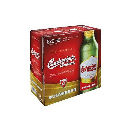 Budweiser Budvar B:Original (8 x 0,5 bottled)