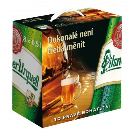 Plzeňský prazdroj (8 x 0,5 l bottled)