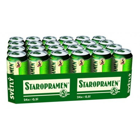 Staropramen Pale (24 x 0,5 l canned)