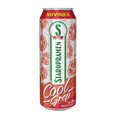 Staropramen Cool Grapefruit (24 x 0,5 l canned)