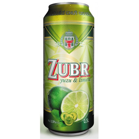 Zubr yuzu & lime (24 x 0,5 l canned)