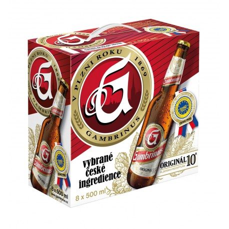 Gambrinus Original 10 (8 x 0,5 l bottled)