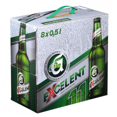 Gambrinus Excelent 11 (8 x 0,5 l bottled)