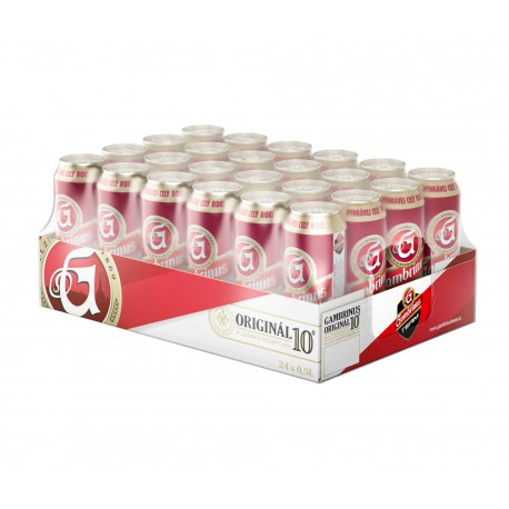 Gambrinus Original 10 (24 x 0,5 l canned)